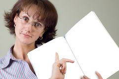 Young woman and notebook Stock Photography