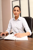 Young woman with notebook Royalty Free Stock Photo