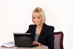 Young Woman With Notebook Stock Photography