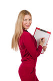 Young woman with notepad Royalty Free Stock Photo