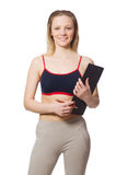 Young woman with notepad Royalty Free Stock Photos