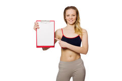 Young woman with notepad Stock Photos