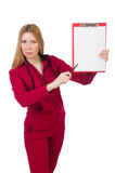 Young woman with notepad Royalty Free Stock Image