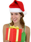 Young Woman Offering Present Royalty Free Stock Image