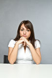 Young woman in office Royalty Free Stock Images