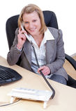 Young woman in office Royalty Free Stock Photos