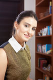 Young woman in office Stock Image