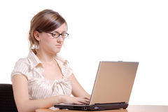 Young woman in an office Royalty Free Stock Image
