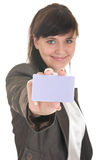 Young woman in office attire. Royalty Free Stock Photo