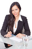 Young woman office Stock Photos