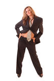 Young woman in office suit isolated. On white Stock Photos