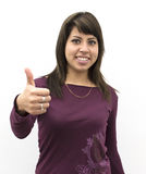 Young woman with OK sign Royalty Free Stock Photography