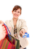 Young Woman On Shopping Royalty Free Stock Image