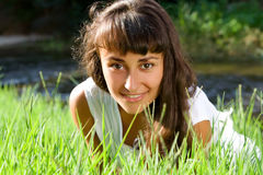 Young Woman On The Meadow Stock Photos