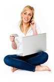 Young Woman Online Shopping Royalty Free Stock Photo