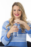 Young Woman Opening Bottle of Water Stock Photos