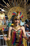 Young Woman at Oruro Carnival in Bolivia Royalty Free Stock Photography