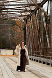 Young woman out for a stroll Stock Photo