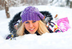 Young woman outdoor Stock Photography