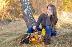Young woman outdoor Stock Images