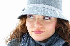 Young woman outdoor. In winter Royalty Free Stock Photography