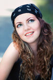 Young woman outdoor Royalty Free Stock Photos