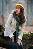 Young woman outdoor in autumn Stock Photos