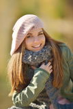 Young woman outdoor in autumn Stock Photo