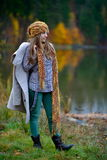 Young woman outdoor in autumn Royalty Free Stock Photo