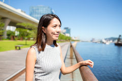Young woman at outdoor Stock Images