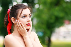 Young woman outdoor Royalty Free Stock Photography