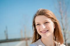 Young woman outdoor portrait Royalty Free Stock Image