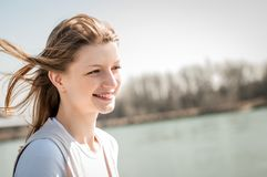 Young woman outdoor portrait Stock Photo