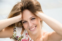 Young woman outdoor portrait Stock Photos
