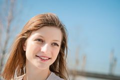 Young woman outdoor portrait Royalty Free Stock Images