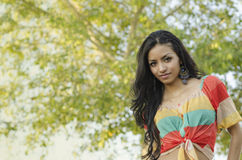 Young woman outdoor portrait nature Royalty Free Stock Images