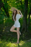 Young woman outdoor in summer Royalty Free Stock Photos