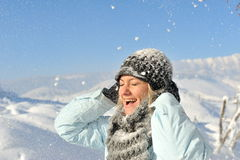Young woman outdoor in winter Royalty Free Stock Images
