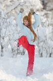Young woman outdoor in winter Stock Image