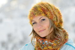 Young woman outdoor in winter Royalty Free Stock Photography