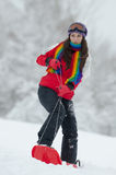 Young woman outdoor in winter Royalty Free Stock Image