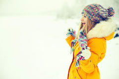 Young Woman Outdoor Winter Lifestyle Stock Image