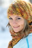 Young woman outdoor in winter Stock Photo