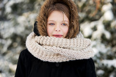 Young woman outdoor in the winter Royalty Free Stock Photo
