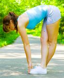 Young Woman Outdoor Workout Stock Photo