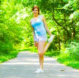 Young Woman Outdoor Workout Royalty Free Stock Images