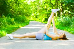 Young Woman Outdoor Workout Royalty Free Stock Photography