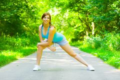 Young Woman Outdoor Workout Royalty Free Stock Photos