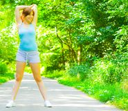 Young Woman Outdoor Workout Stock Images