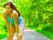 Young Woman Outdoor Workout Stock Photography